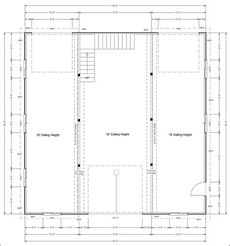 pole barn post spacing and size tables pole barn building design cad software cad pro