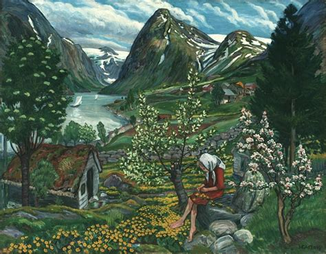 painting norway nikolai astrup painting norway beloved artworks of norway by nikolai astrup creative boom