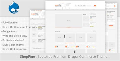 bootstrap templates for drupal free shopfine drupal commerce theme themeforest