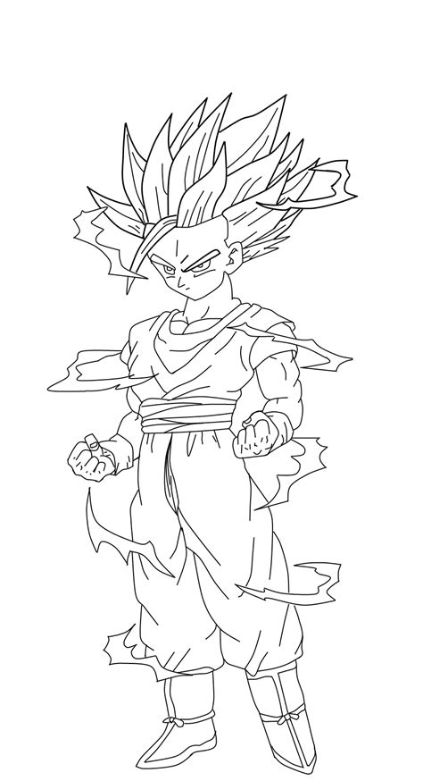 teen gohan coloring pages