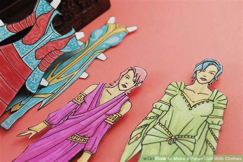 How To Make A Paper Doll Step By Step - how to make a paper doll with clothes 11 steps with