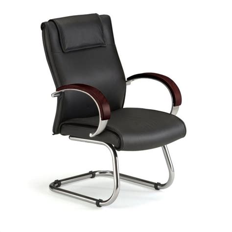 Guest Chairs by Executive Guest Leather Guest Chair In Mahogany 565 L