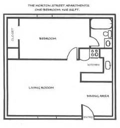Floor Plan For 1 Bedroom House by One Bedroom Floor Plans 171 Floor Plans