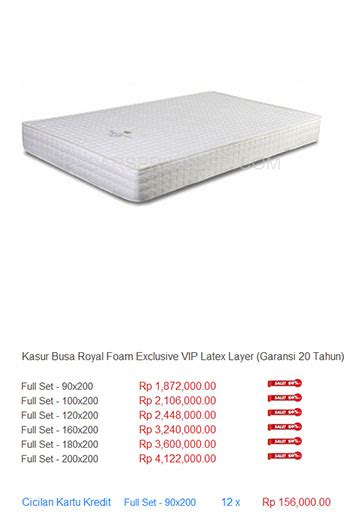 Daftar Kasur Busa American kasur busa royal foam harga bed termurah di indonesia