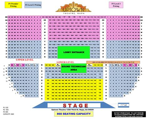 michigan theater seating chart seating chart uptown theatre napa