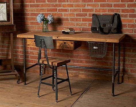 wooden home office desk reclaimed wood home office desks recycled things