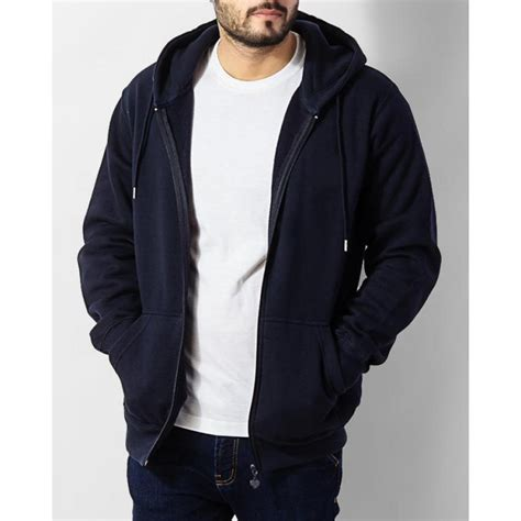Zipper Hoodie hoodies navy blue sleeves zipper hoodie