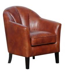 Leather Accent Chair Gfa Park Land Chestnut Faux Leather Accent Chair
