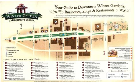 winter garden fla winter garden merchants guild map winter garden florida