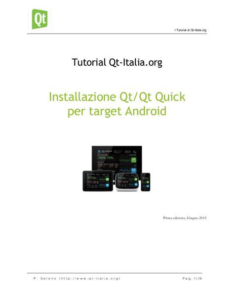 qt tutorial ppt installazione qt qt quick per target android