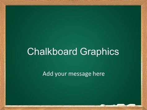 Chalkboard Graphics Template Chalkboard Powerpoint Template