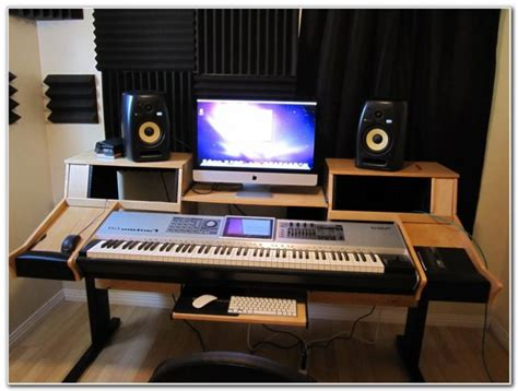 studio computer desk recording studio desk ikea hack desk interior design