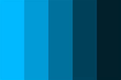 web blue color palette