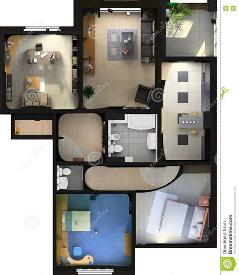 Private Residence Interior Design modern flat interior stock images image 2747294