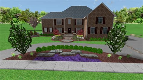 circle driveways will add function and a great flow with the right landscaping all natural