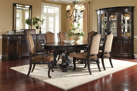 pictures of dining room sets legrand oval dining room set 203221 1715tp bs art furniture