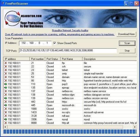 port scan test port scanner