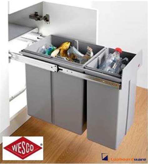cupboardware wesco pull  bin  litre grey pvc