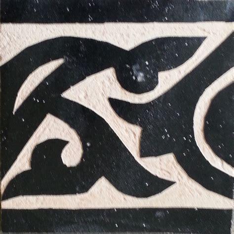 zelliges wand bord 252 re 10x10x1 2 marokko schwarz graviert