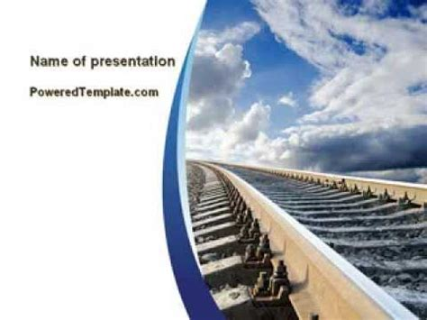 rails templates railway track powerpoint template by poweredtemplate