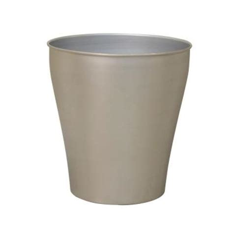 brushed nickel wastebasket bathroom moorefield beacon waste basket in brushed nickel 46843b