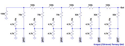 resistor ladder diagram projects a 9 bit microcontroller driven dac using a ternary resistor ladder