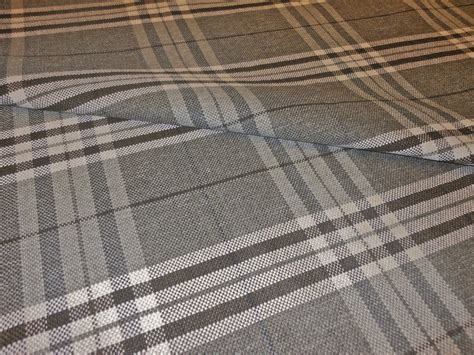 grey tartan upholstery fabric modern tartan plaid slate grey cream black upholstery