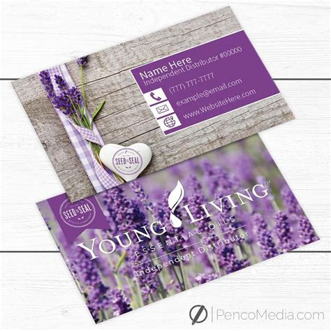 premade young living business card design by ylessentials on etsy