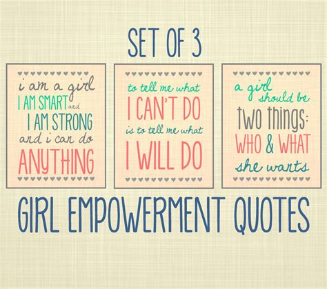 girl empowerment themes girl empowerment quote art set of 3 kids wall art