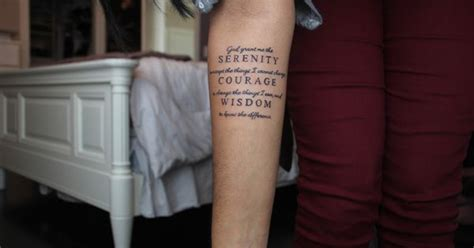 serenity prayer tattoo small serenity prayer forearm serenity courage wisdom