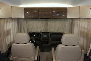 Rv Front Window Curtains Via Interior Cab Winnebago Rvs