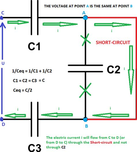 capacitor zero resistance why is the capacitor circuited in this exle electrical engineering stack exchange