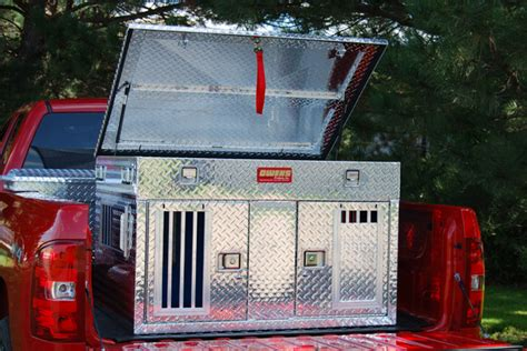 owens dog box fans dual compartment aluminum dog box with top storage huntemup