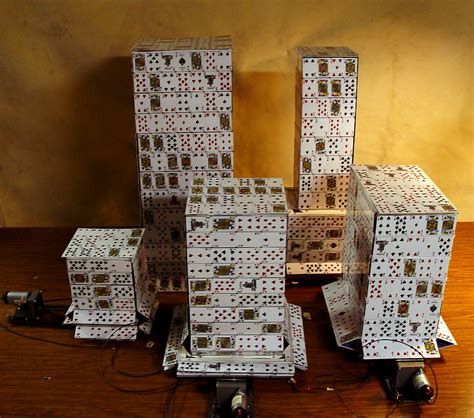 how to make card tower card towers the of brose partington