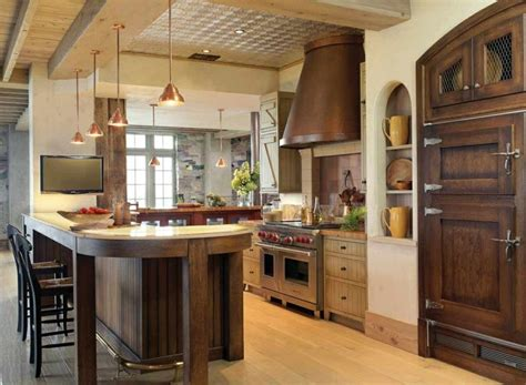 Cuisine ancienne pour un intérieur convivial et chaleureux