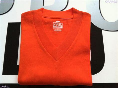 pro club comfort t shirts 2 new proclub v neck t shirt comfort orange blank plain