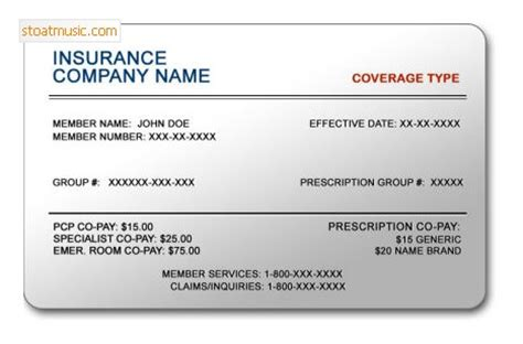 free auto insurance card template free auto insurance card template stoatmusic