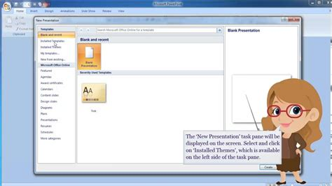 design microsoft powerpoint 2007 ms powerpoint 2007 creating a presentation using design