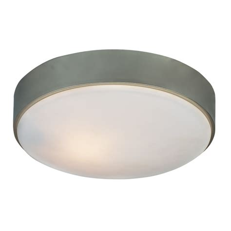 Nickel Ceiling Light Shop Kichler 10 98 In W Brushed Nickel Flush Mount Light At Lowes