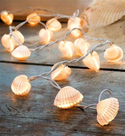 sea shell badezimmer lichterketten muscheln and lichter on