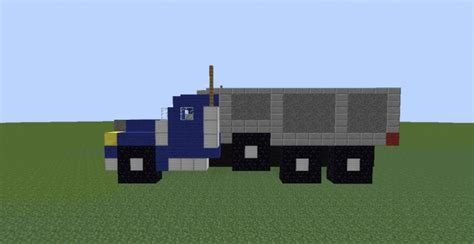 minecraft dump truck dump and semi trailer trucks minecraft project