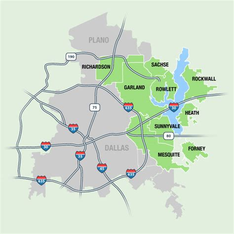map of rowlett texas service area simply greener lawn lawn care forney rockwall sunnyvale heath