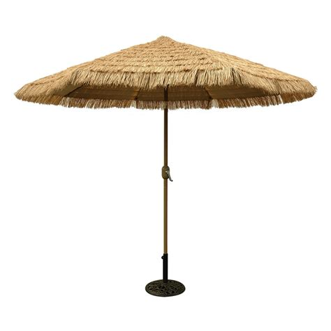 9 Ft Patio Umbrella Shop Tropishade Honey Chagne Market 9 Ft Patio Umbrella At Lowes