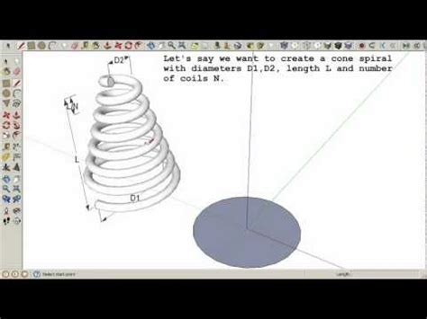 google sketchup cone tutorial sketchup screw 2 doovi