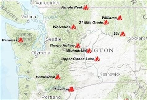 map of washington state wildfires 2015