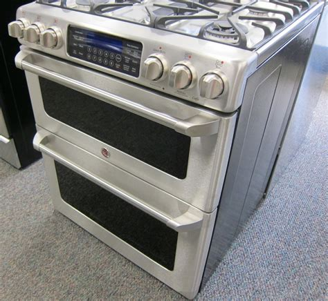 Oven Gas Digital ge cafe cgs990setss gas range with digital display on