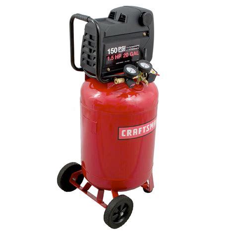 craftsman  gallon hp vertical air compressor  max psi