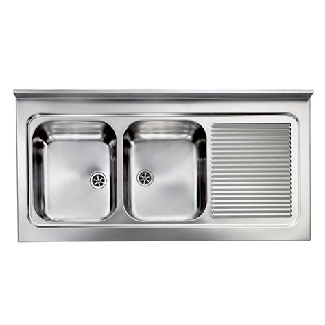 Evier Inox 2 Bacs by Evier Professionnel 224 Poser Rossa Inox De Qualit 233 2