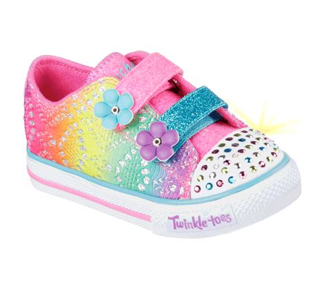 toddler clothes and shoes skechers 10626 mlt s toddler shuffles lil rainbow