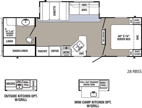 puma travel trailers floor plans 2016 puma 28rbss travel trailer
